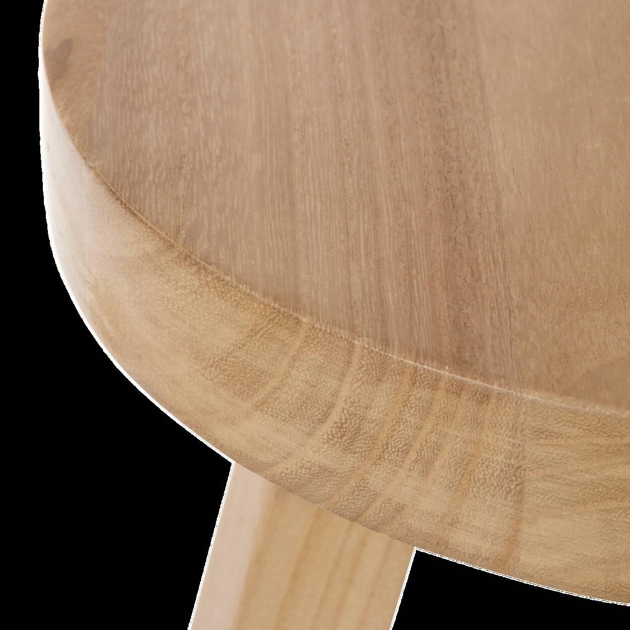 Tabouret en bois naturel