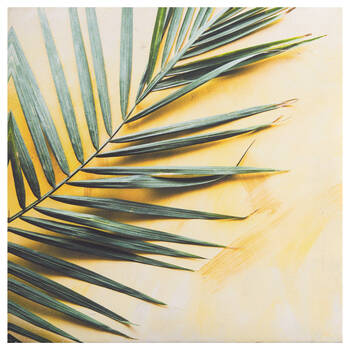 Square Palm Leaf Printed Canvas