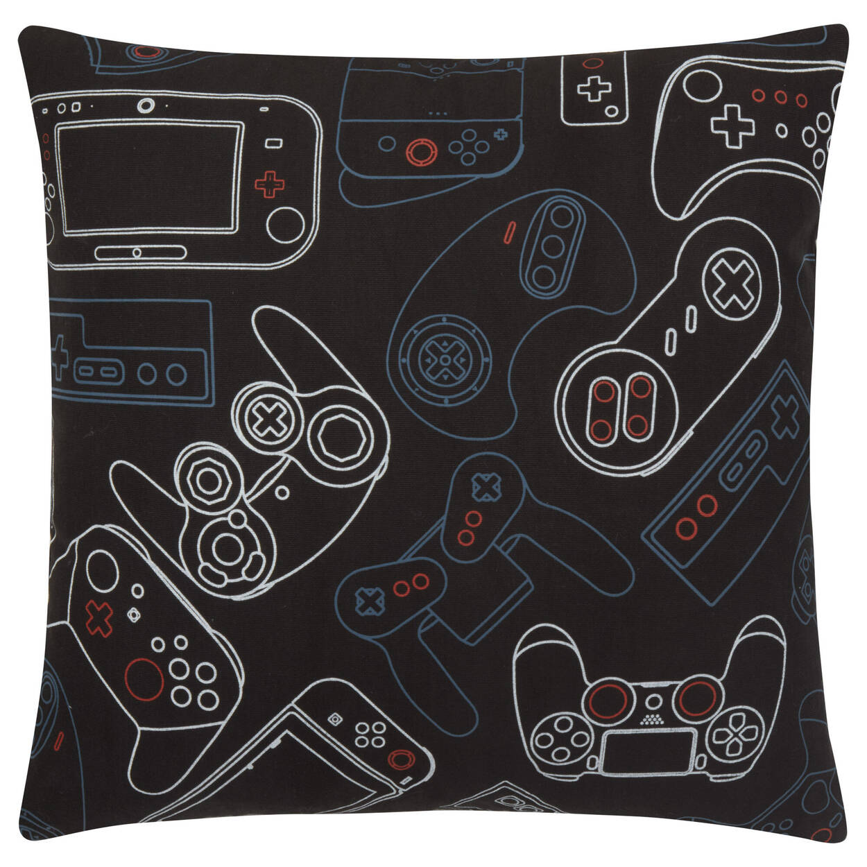 """Gaming Controllers Decorative Pillow 18"""" x 18"""""""