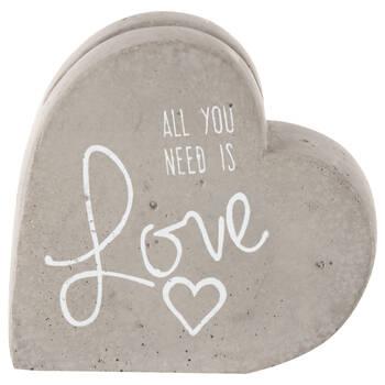 Porte-carte coeur en ciment