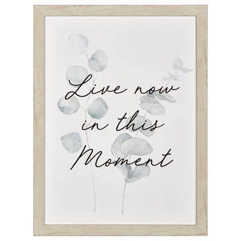 Live Now in this Moment Printed Framed Canvas