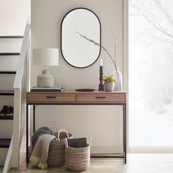 Miroir ovale avec cadre