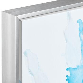 Gel-Embellished Blue Abstract Framed Art