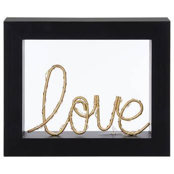 Mot décoratif Love DEL encadré