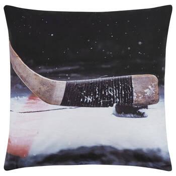 "Hockey Stick Decorative Pillow 18"" X 18"""