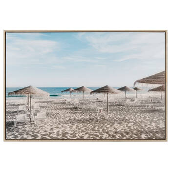 Beach Parasols Printed Canvas