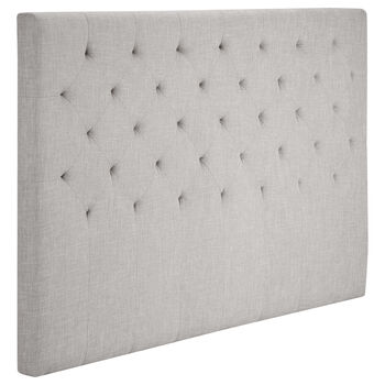 Diamond Tufted Fabric Headboard