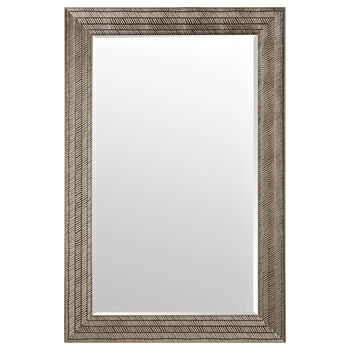 Textured Framed Mirror