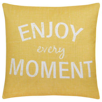 "Enjoy Water-Repellent Decorative Pillow 18"" X 18"""