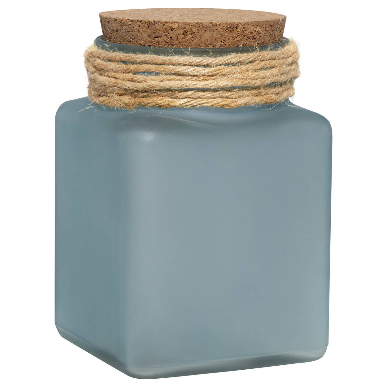 Frosted Glass Jar with Cork Lid
