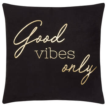 "Good Vibes Only Decorative Pillow 19"" x 19"""