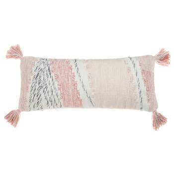 "Kuma Lumbar Decorative Pillow 10"" x 24"""