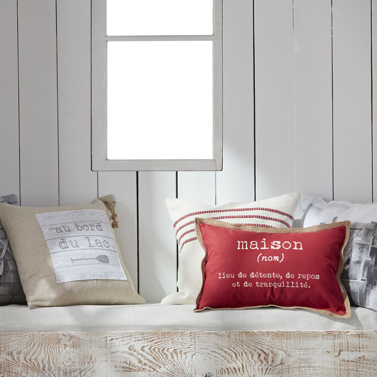 """Bord Du Lac Decorative Pillow 19"""" X 19"""""""