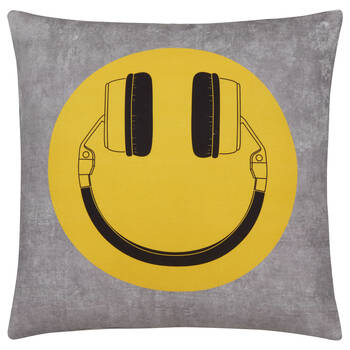 "Smiley Decorative Pillow 19"" x 19"""