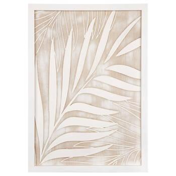 Art mural feuilles de palmier en bois