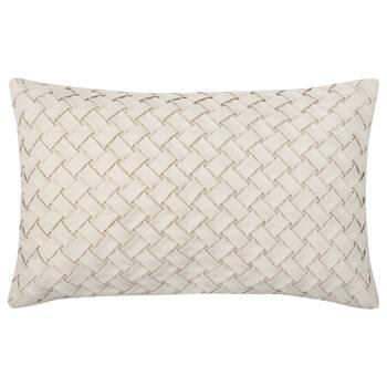 "Wes Woven Suede Decorative Lumbar Pillow 14"" X 20"""