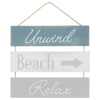 Unwind, Beach and Relax Wall Art