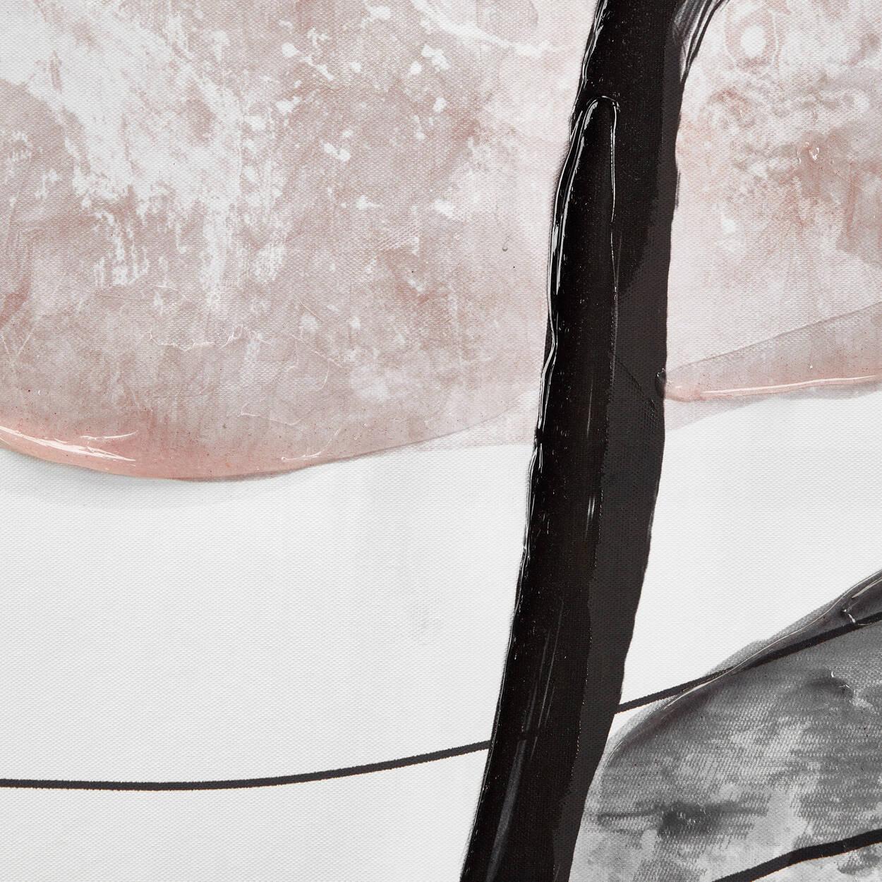 Cadre imprimé avec embellissements au gel