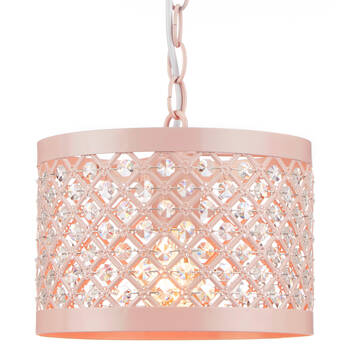 Ceiling Lamp with Faux Crystals