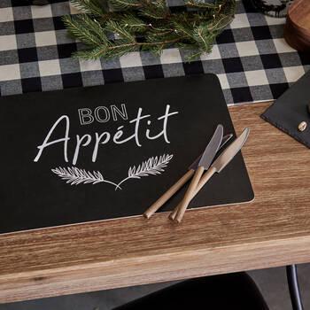 Set of 4 Bon Appetit Placemat