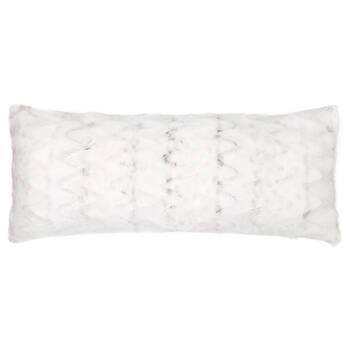 """Hare Faux Fur Decorative Lumbar Pillow 15"""" X 32"""""""