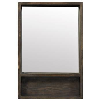 Wood Mirror With Shelf