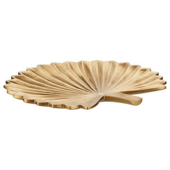 Gold Embossed Tropical Leaf Tray