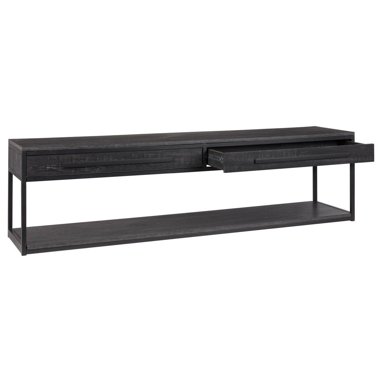 Veneer & Metal 2-Drawer Media Console