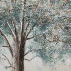 Tableau peint à l'huile arbre bleu