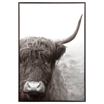 Bull Printed Framed Art