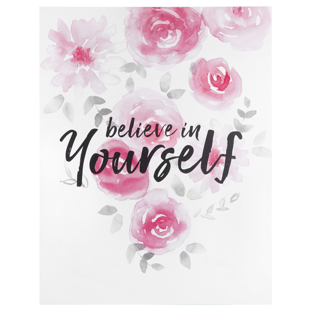 Believe in Yourself Typography Canvas