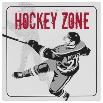 Plaque murale hockey