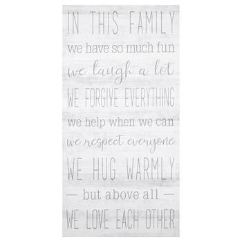 Family Typography Printed Canvas