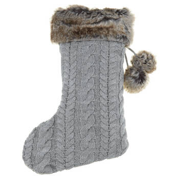 Knit and Faux Fur Stocking