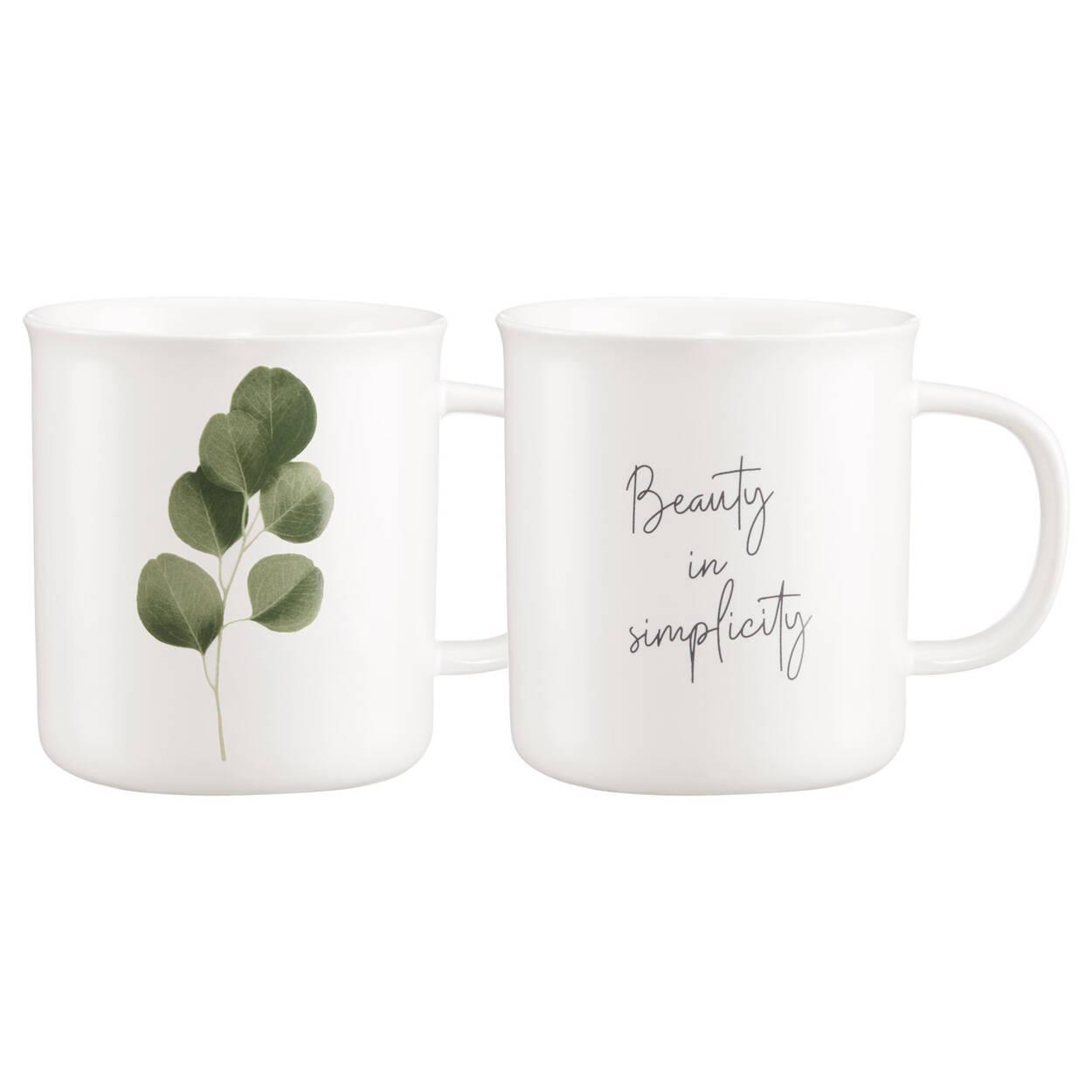 Ensemble de 2 tasses eucalyptus et message