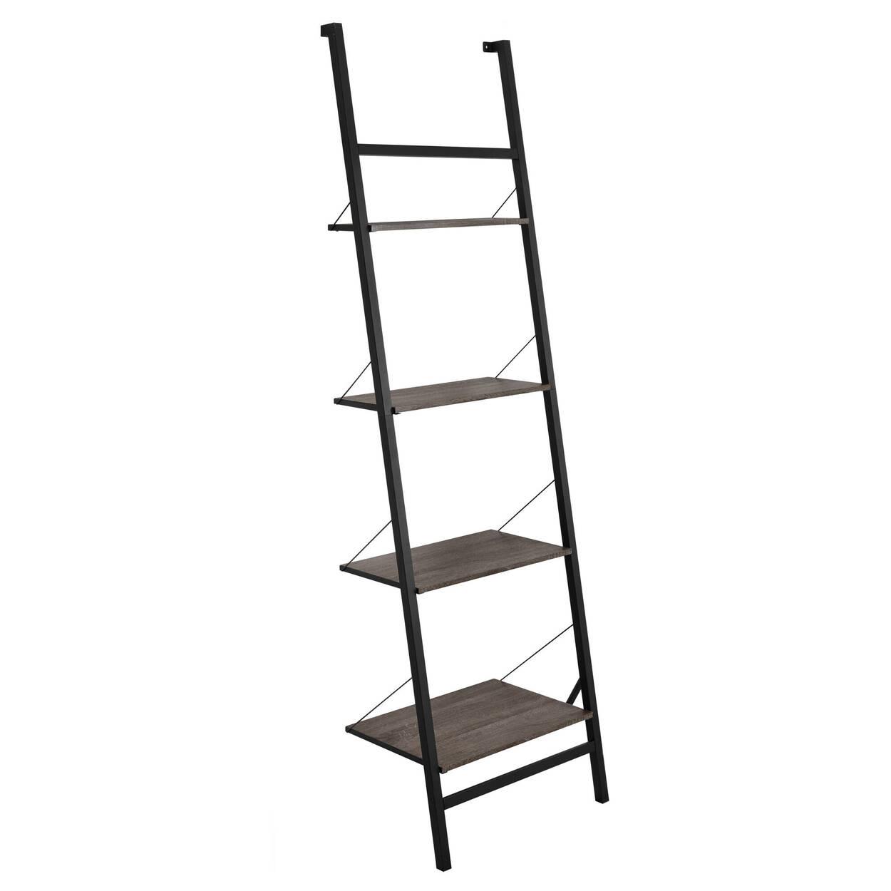 Four-Tier Wall Ladder Shelf