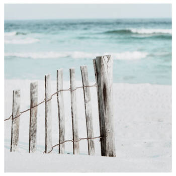 Beach Fence Printed Canvas