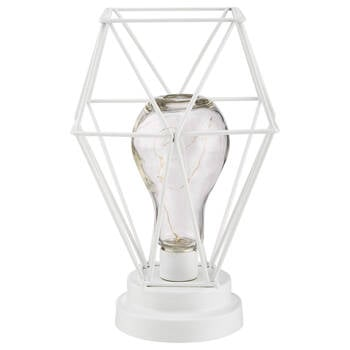 Geometric Wire Bulb with LED Light