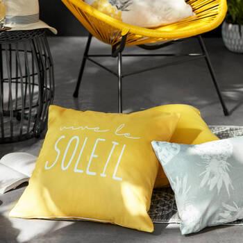 "Hello Sunshine Water-Repellent Decorative Pillow 18"" X 18"""