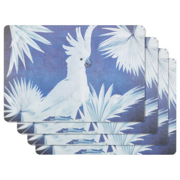 Set of 4 Cockatoo PVC Placemats