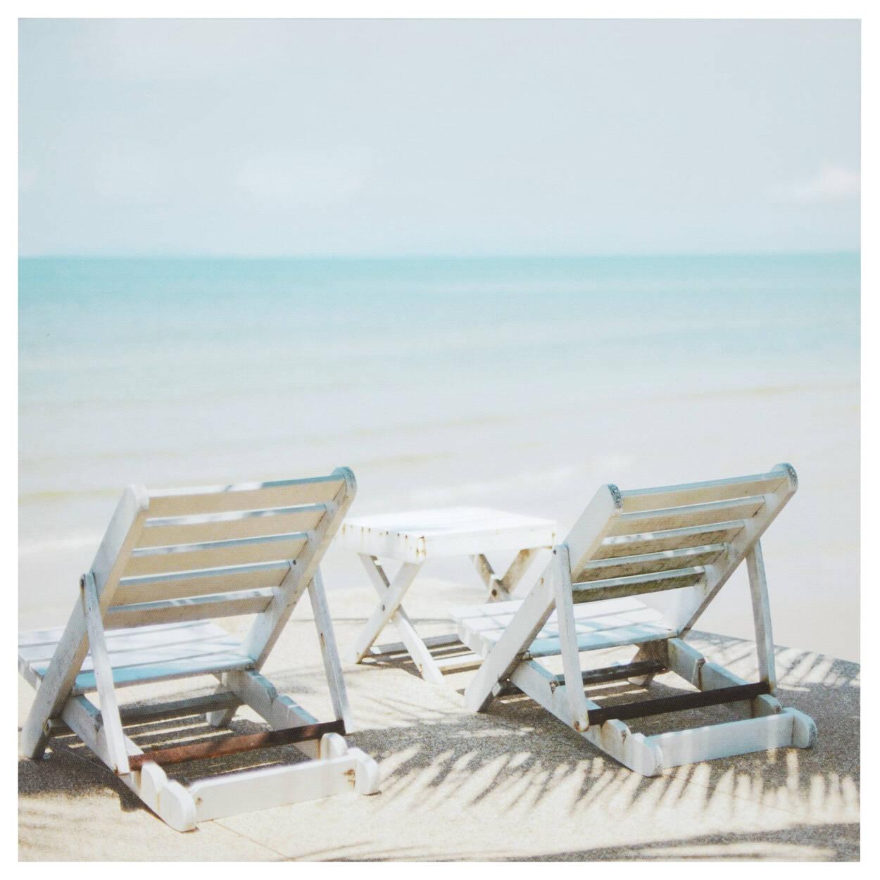 Tableau imprimé Zen sur la plage