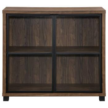 Two-Door Iron and Veneer Cabinet