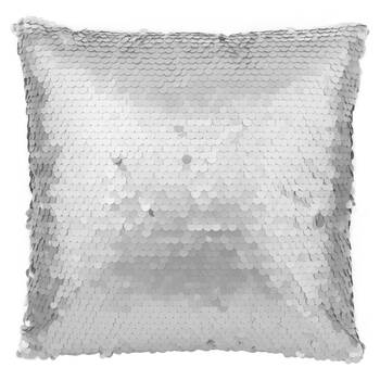 """Silver Sequined Decorative Pillow 18"""" x 18"""""""