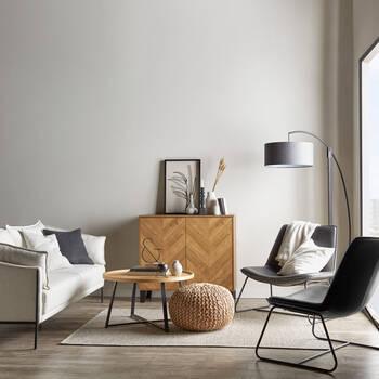 Table basse en bois et en métal