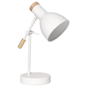 Lampe de bureau en bois et en métal
