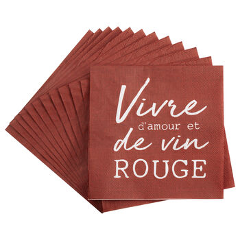 Paquet de 20 serviettes de table Vivre