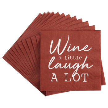 Set of 20 Wine Table Napkins