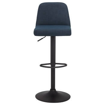 Chita Fabric and Metal Adjustable Stool