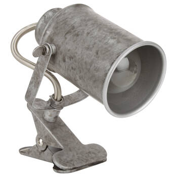 Lampe à pince en métal galvanisé