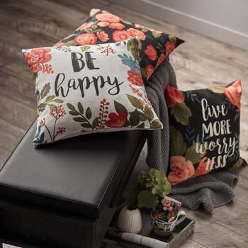 """Flora Decorative Pillow Cover 18"""" x 18"""""""